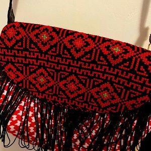 Vintage Palestinian Embroidered Crossbody Purse